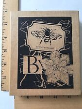 Stamp In The Hand Co - Bee Collage Rubber Stamp R1021 - NEW