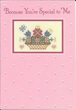 Happy Mother's Day To Someone Special Cross Stitch Hallmark Greeting Card