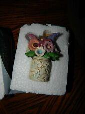 Jim Shore - Heartwood Creek - Mini Flower Bouquet in Vase Figurine - 6001089