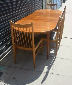 Vintage 1970s  Troeds, Rosewood oval extendable dining table
