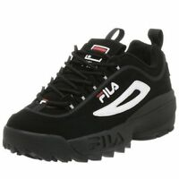 Fila-DISRUPTOR-II-Nubuck-Black-White-Red-Men-039-s-Shoe-FW01653-018 Authentic