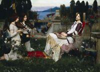 Saint Cecilia, 1895, JOHN WILLIAM WATERHOUSE Pre-Raphaelite Poster