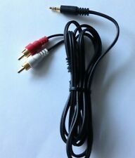 AV Cable Cord Wire TV Component 3.5mm Stereo Amplifier 6 Ft Audio Video 2 RCA Ma