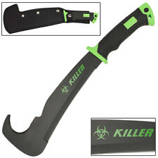 Zombie Killer Full Tang Bill Hook Outdoor Hunting and Landscaping Machete Knife