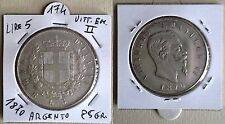 5 LIRE ARGENTO 900/ ANNO 1870 - VITT.EMANUELE II - RIPRODUZIONE- GR.25 BB+ N.174