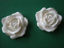 Decorative Resin Moulding - Floral / Wildlife / Flowers - Set of 2 Roses (pair)
