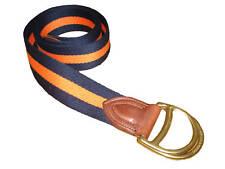 Purple Label Ralph Lauren Polo O Ring Orange Navy Blue Belt Large