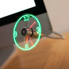 Patented USB LED Clock Fan Gadget, Coolest Gadget (Produced by Patent Holder)