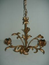 Chandelier with chain hanging bronze colour 3 lights