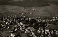 Schömberg bei Wildbad im Schwarzwald Postkarte ~1950/60 Gesamtansicht Luftbild