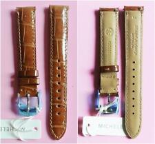 Michele 16MM MOCHA Watch Band Strap Genuine Alligator Skin MS16AA010245