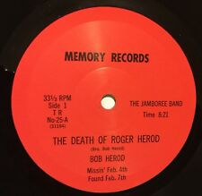 """BOB HEROD JAMBOREE BAND The Death Of Roger Herod/Price He Paid 7"""" 33 bopper hear"""