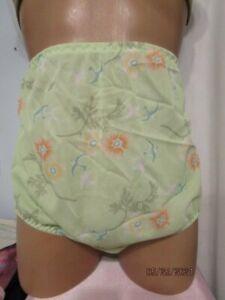 Handmade Springtime Nylon Tricot Sissy Big Granny brief Panties Sz 46