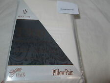 New Venus Suite VS. Cotton Twill Weave Two Standard Pillowcases ~ Ivory 300 TC