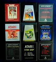 Vintage Atari 2600 Game Cartridge Lot Of 9 Star Wars Frogger Star Ship Combat +
