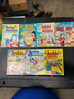 Lot Of 11 Vintage Archie, Betty And Veronica, Jughead, Digest Library Comics