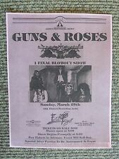 Guns & Roses Early March 29 1987 The Roxy Concert Flyer Poster Copy Axl Slash #3