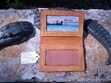 Alligator leather Business card ID Wallet Swamp Skin Gator Hide Cognac NOB