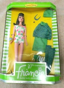 NRFB FRANCIE 30TH ANNIVERSARY Mattel Barbie Doll 1996 Limited Edition