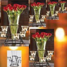 Lot of 6 Black Vase Candelabra Candleholder Wedding Centerpieces