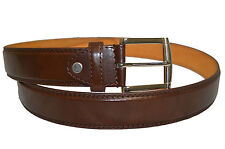 """BELT MENS BIG AND TALL JEANS NEW BROWNLEATHER SIZE 54"""" SYLISH CASUAL BELTS"""