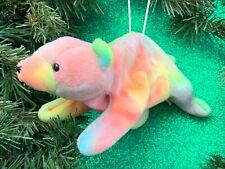 RARE CUSTOM Ty Beanie Babies Baby Sammy Tie Dye Bear Christmas Tree Ornament