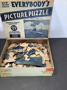 """1941 WW2 Jig Saw Puzzle"""" Guardians of Liberty""""  Wilkie Picture 500 Complete A7"""