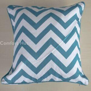 "100% Cotton Luxury Printed Cushion Covers Design Chevron  Size 18""x18"""