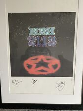 More details for rush band 2112 signed lithograph neil peart geddy lee alex lifeson ap#10/50