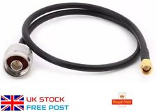 50cm N-Type Male Plug to SMA Male Adapter Connector RG58 Antenna Cable NEW UK