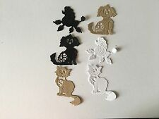HANDMADE BEAUTIFUL DIE CUT/EMBOSSED DETAILED SET OF 6 CUTE DOGS