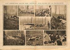 Raid Avion Aircrafts Gothas Paris Banlieue & Compiègne / Congo Belge  1918 WWI