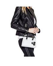 NWT Guess Liya Crossbody small Satchel purse Handbag White black w/ flowers