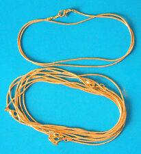 """5 x 16"""" plaqué or complet Serpent Collier/Pendentif Chaînes, 1.1 mm Dia"""