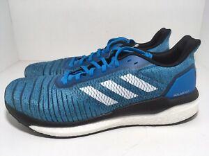 Adidas Solar Drive Boost Running Shoes Shock Cyan B96233 Men's Size 12