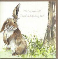 Birthday Card - Can't believe My Ears - Rabbit - Gracie Tapner Quality NEW