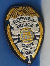 ROSWELL POLICE DEPARTMENT GEORGIA PATCH VINTAGE EMERGENCY SERVICE CREST BADGE
