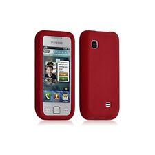 Housse coque silicone pour Samsung Wave 575 S5750 couleur Rouge