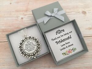 Personalised Old Thank You Bridesmaid Flower Girl Gift - Bridal Bouquet Charm