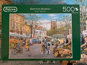 Falcon 500 piece jigsaw - Skipton Market - Complete