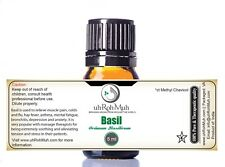 Pure Basil Essential Oil, Kosher Basil Oil; therapeutic guarantee - Or: India