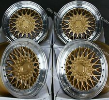 "16"" RS Gold Alloy Wheels Fits Bmw E30 Fiat Punto Evo Grande Punto 4x100"