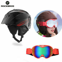 ROCKBROS Adults Skiing Snowsports Helmet+Ski Anti-fog Double Lens Glasses Set
