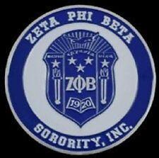 Zeta Phi Beta Sorority Crest Car Emblem- New!
