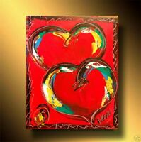 RED HEARTS  canvas painting Mark Kazav Original  Painting no reserve STDSFB