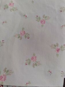 Simply Shabby Chic Light Green Cottage Rose Twin flat sheet - Euc