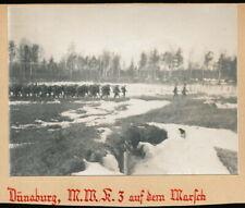 Foto auf Pappe - Dünaburg Minenwerfer Komp. auf dem Marsch - 1.WK