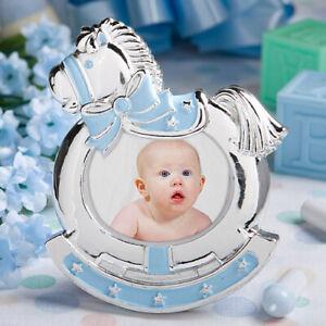 Blue Rocking Horse Photo Frame