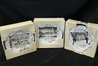 """Christmas Scenes Artwork Salad Plates Handcrafted in Italy 8"""" Lot of 12"""