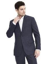 Banana Republic Men's Tailored Fit Blue Plaid Two Button Blazer Size 42 Regular